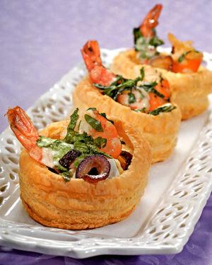 закуска в тарталетках с креветками рецепт с фото